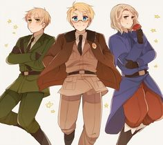 Hetalia ~ England, America and France