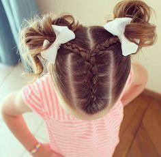 Fancy Hairstyles Little Girl Birthday Party Hairstyles Punk Rock Girl Hairst kids hairstyle Girls Hairdos, Cute Girls Hairstyles, Princess Hairstyles, Braided Hairstyles, Kids Hairstyle, Hairdos For Little Girls, Hairstyles For Toddlers, Little Girl Braids, Prom Hairstyles