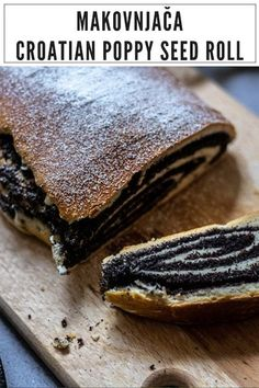 Here is an easy Makovnjača recipe. This poppyseed roll is actually a traditional Croatian dessert that doesn't have an exact historical story, but tastes oh-so-good! Croatian Recipes, Hungarian Recipes, Jewish Recipes, Russian Recipes, Russian Foods, Lithuanian Recipes, Pastry Recipes, Baking Recipes, Dessert Recipes