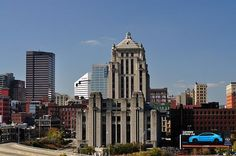 """I worked for two years as a sports reporter in the Cincinnati Time-Star Building. A registered historical building. It was built in 1933 and was designed by the firm of Samuel Hannaford & Sons in the """"Art Deco"""" Style."""