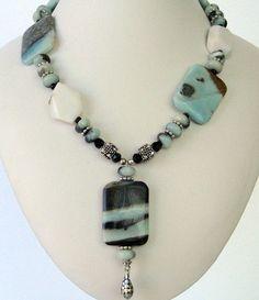 Necklace  Amazonite Pendant  Amazonite by Jewelsforhealing on Etsy, $109.00