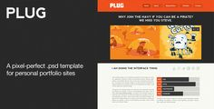 Plug - A Personal Portfolio PSD Theme by wpsitenet PLUG is a responsive friendly, Personal Portoflio .psd template. It is well grouped and properly layered to make the slicing proce