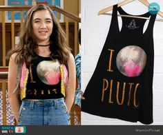 Riley's I Love Pluto top on Girl Meets World.  Outfit Details: https://wornontv.net/57796/ #GirlMeetsWorld Buy it here: http://wornon.tv/36204