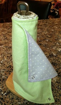 Reusable Papertowels - Yes I've completed another pinterest idea. And it turned out super cute! -S