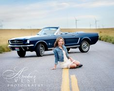 Senior Pictures with Mustang.  ambervestphotography.com
