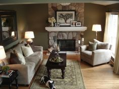 Family Room, We hope you enjoy our recent family room remodel. We had new oak flooring installed and had a mantel installed on the fireplace...