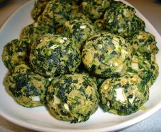 Spinach Balls with Parmesan Cheese