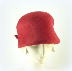Red Cloche Hat for Women  1920s Fashion Bucket by TheMillineryShop, $265.00