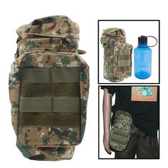 Water Bottle Bum Bag / Waist Pouch Holder (Water bottle not included)