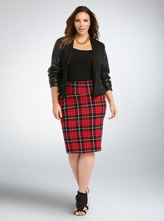 Faux Leather Sleeves Blazer | Torrid