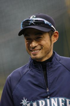 Ichiro's sideburns are simply awesome. #Mariners