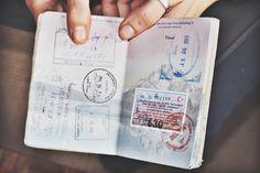 pasos para viajar / pasaporte