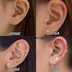 Jennie Blackpink, Ulzzang, Korean Fashion, Diamond Earrings, Piercings, Lisa, Tattoos, Fun, Jewelry