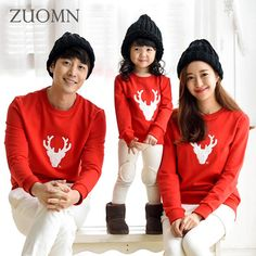 2016 Autumn New Family Matching Clothes For Mother and Daughter Christmas Father Daughter Clothes Korean Family Matching Outfits