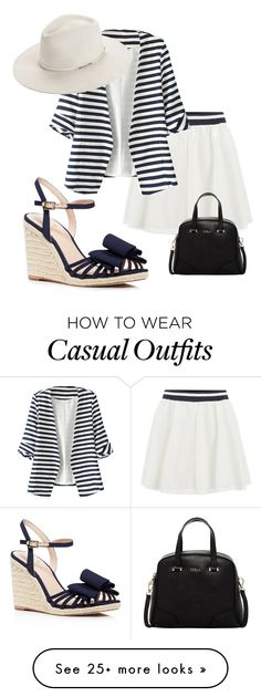 """Classy Casual"" by maymaple on Polyvore featuring ONLY, Furla, WithChic, Kate Spade and rag & bone"