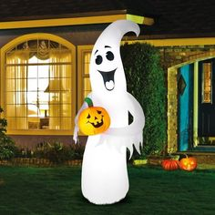 inflatable halloween yard decor ghost pumpkin outdoor air blown decorations new
