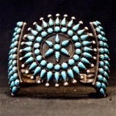 Jessie western antique needlepoint bracelet ,sleeping beauty turquoise and sterling silver .www.jessiewestern.com