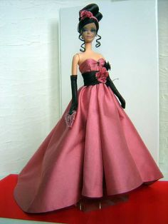 ~ ❤❤❤ ~  Preferably Pink Ooak High Couture for Silkstone by Delmoltoamore  ~ ❤❤❤ ~