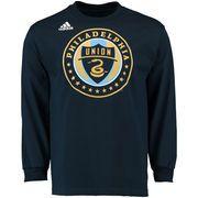 adidas Philadelphia Union Navy Logo Set Long Sleeve T-Shirt