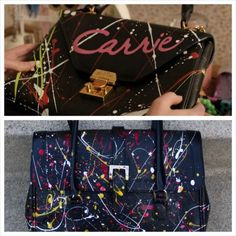 New Dress A Day - Hello Giggles - The Carrie Diaries DIY - painted purse