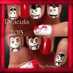 Vampire Dracula nails 2013