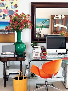 workspace: colorful contemporary   Daily Dream Decor