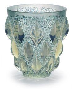 René #Lalique Aras Vase, c. 1930