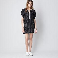 ZIP UP SHIRT DRESS
