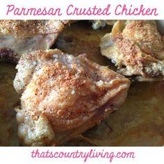 Parmesan Crusted Chicken (Homemade Shake 'n Bake) #recipe