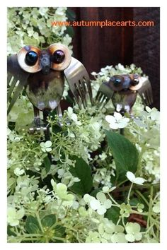 Cute owls. This shop had some of the best silverware art I've seen.