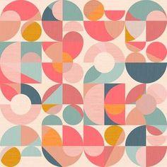 Shop Over 1 Million Fabric Designs | Spoonflower Fish Art, Pastel Colors, Surface Design, Geometric Shapes, Custom Fabric, Collage Art, Spoonflower, Geometry, Fabric Design