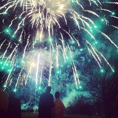 The bride & groom watching their spectacular display by @21ccFireworks wedding scotland fireworks night sky by premierweddingplannersscotland - instaview.me