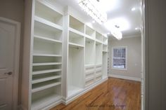 Amazing closet...door to the left is the laundry room. Great idea!