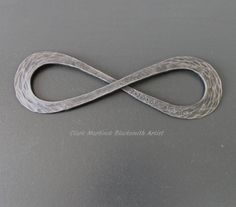 Infinity Symbol  Iron Anniversary Gift  Steel by toughandtwisted, $110.00