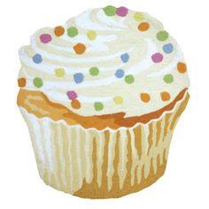Cupcake Hand Hooked Indoor Accent Rug WHATONEARTH http://www.amazon.com/dp/B00E1P317E/ref=cm_sw_r_pi_dp_0yrLtb0TN7XFGG10