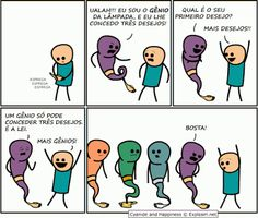 cyanide and happiness, funny, genie, lol, wishes Cyanide And Happiness Comics, Funny Images, Funny Pictures, Cartoon Images, Funniest Pictures, Funniest Memes, Photo Humour, Haha, Moba Legends