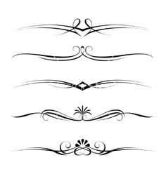 Decorative elements border and page rules vector