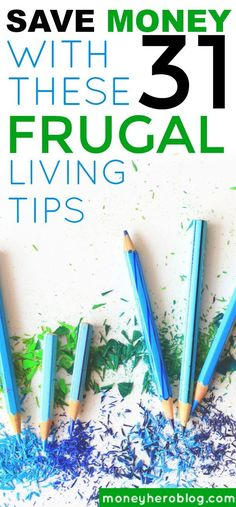 Check out these 31 frugal habits that you can use to save some money each month!