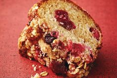 Cranberry Coffee Cake With Cinnamon Streusel