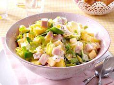 Unser beliebtes Rezept für Lauch-Käse-Salat mit Pute und Feigensenfschmand und mehr als 55.000 weitere kostenlose Rezepte auf LECKER.de.