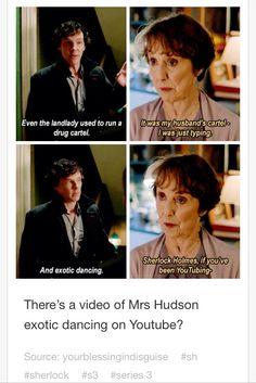 Mrs. Hudson's on YouTube?