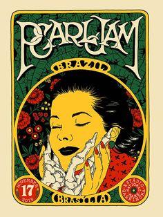 Pearl Jam divulga pôster oficial do show em Brasília