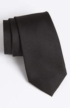 $28, Black Tie: Calibrate Woven Silk Tie. Sold by Nordstrom. Click for more info: http://lookastic.com/men/shop_items/139800/redirect
