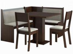 Conjunto de Mesa com 2 Cadeiras e 1 Banco - Canto Alemão Stillus - Madesa