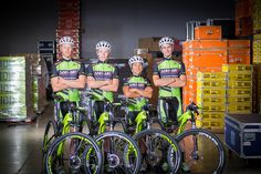 The Sho-Air/Cannondale Professional Mountain Bike Team: Max Plaxton, Keegan Swenson, Evelyn Dong and Stephen Ettinger.