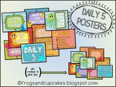 FREEBIE - Daily 5 Posters from frogsandcupcakes on TeachersNotebook.com -  (26 pages)
