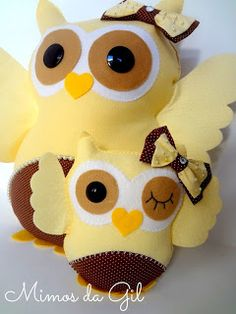 Cute Felt owls... just what I need...