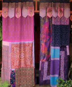 ARABIAN NIGHTS - Handmade Gypsy Curtains - Bohemian Hippie Global Style. $225.00, via Etsy.