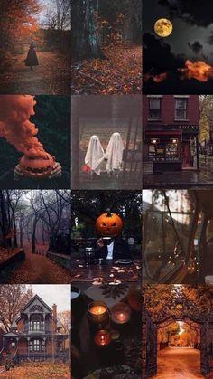 Cute Fall Wallpaper, Halloween Wallpaper Iphone, Halloween Backgrounds, Samhain Halloween, Halloween Town, Vintage Halloween, Aesthetic Iphone Wallpaper, Aesthetic Wallpapers, Autumn Cozy