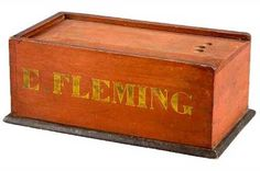 Outstanding 19th C. Pennsylvania Slide-Lid Candle Box